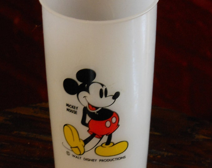 Vintage Tupperware Mickey Mouse Glass