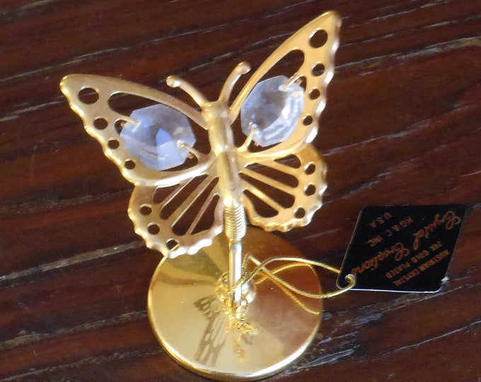 Austrian Crystal 24K Gold Plated Crystal Creations Butterfly