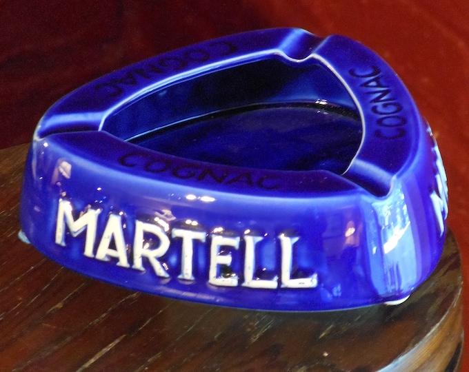Vintage Martell Cognac Triangular Ash Tray