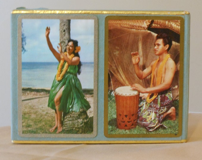 Two-Deck Box of Hawaiian-Themed Congress Vintage Playing Cards