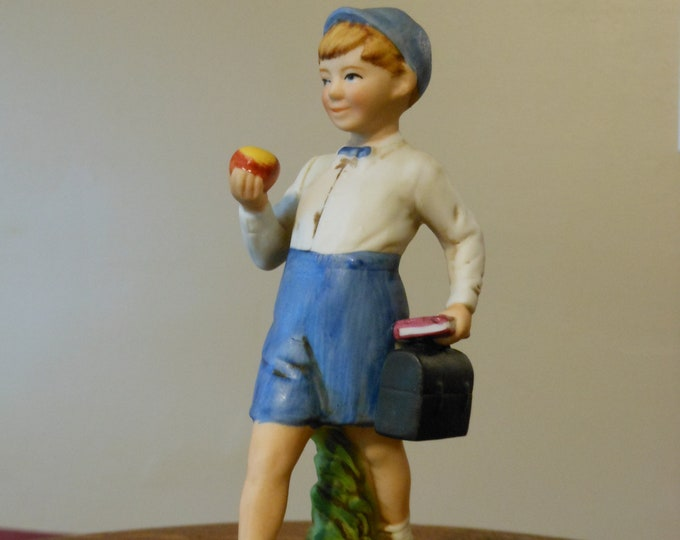 "Vintage Dave Grossman Designs Figurine Norman Rockwell's ""Teacher's Pet"""