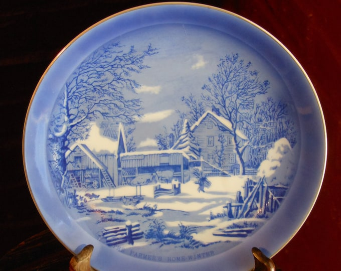 Currier & Ives. The Farmer's Home--Winter Decorative Plate