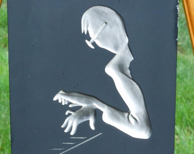Hans Richter Plaster Wall Plaque. Jazz Musicians. Piano. (1957)