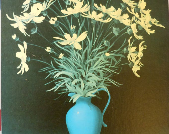 Unframed Picture, Yellow Flowers in a Blue Vase
