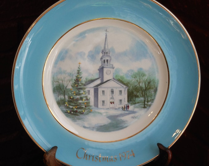 Series of Seven Avon Christmas Plates by Enoch Wedgwood (England)