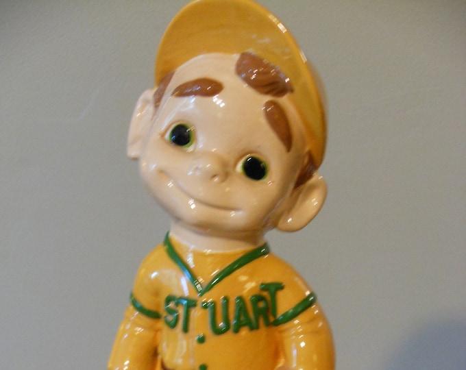 Vintage Ceramic Little Leaguer