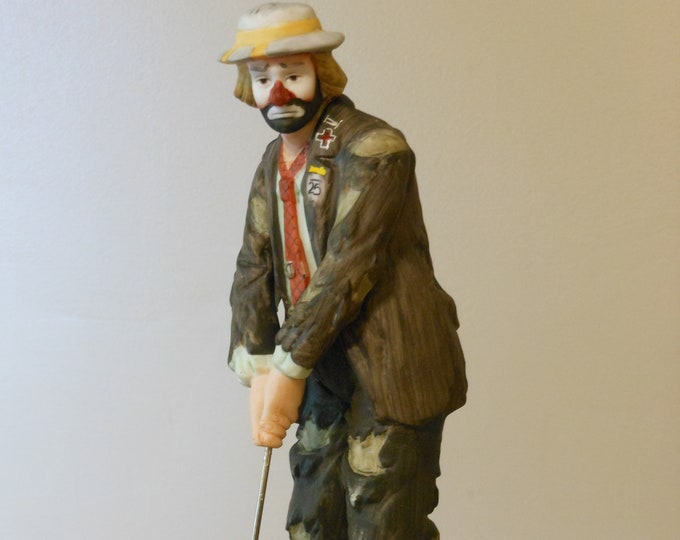 Emmett Kelly Jr. Collection Flambro Golfer Clown