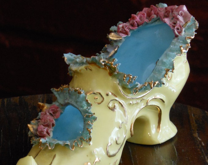 Vintage Ceramic by Jo Victorian Shoe