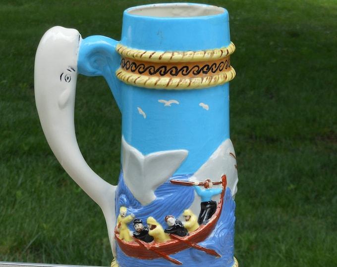 Vintage Ceramic Whaling Stein Vase