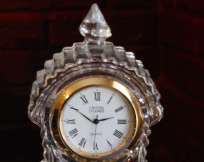Godinger Crystal Legends Grandfather Desktop Clock
