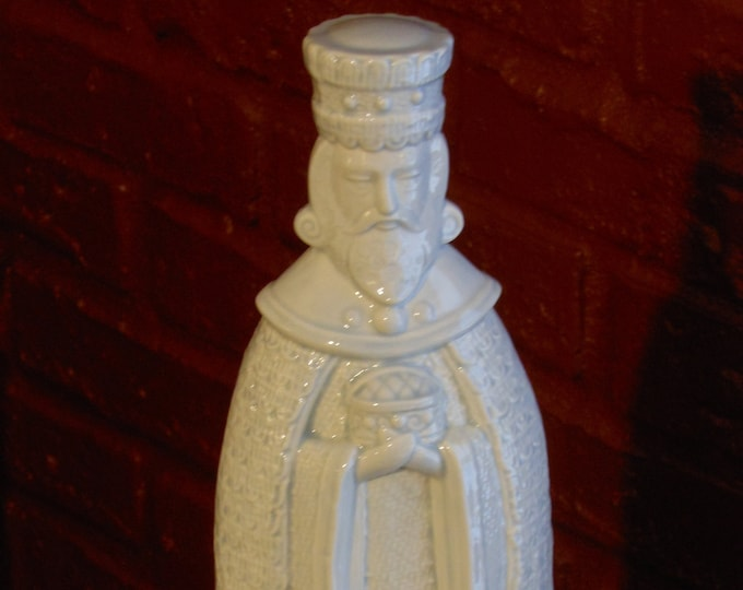 White Ceramic King Figure