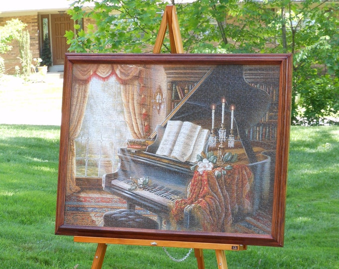 Large Framed Grand Piano Jigsaw Puzzle