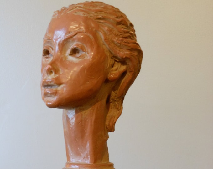 "Signed Fred Press ""Circe"" Clay Sculpture"