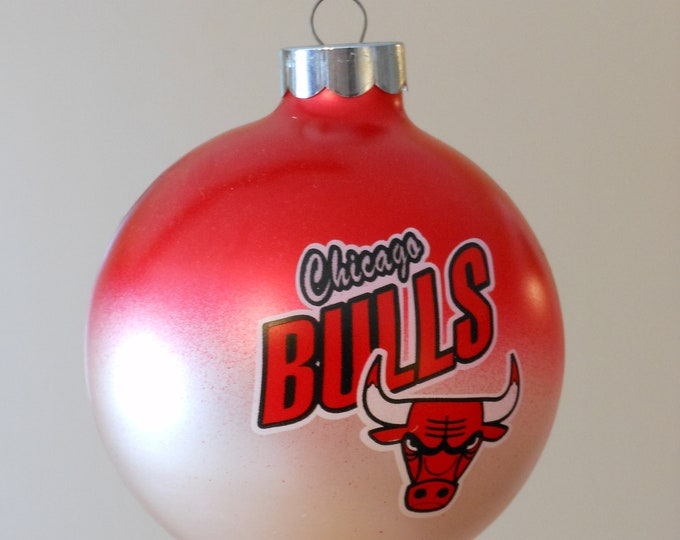 One Dozen Vintage Chicago Bulls Christmas Tree Ornaments