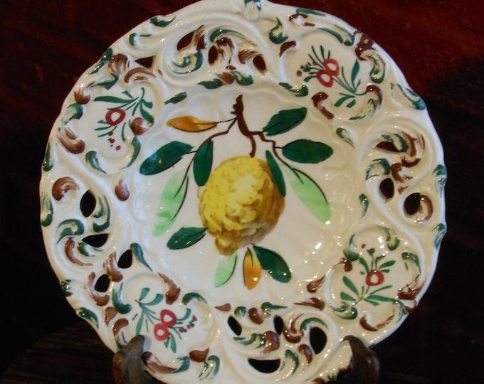 Reticulated Italian Majolica Plate