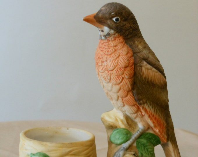 Vintage Robin Luvkin Songbird Candle Holder (1979)