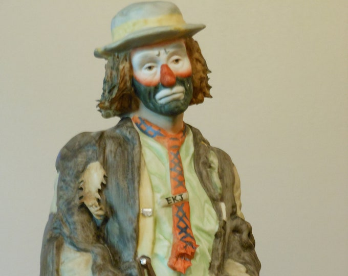Emmett Kelly Jr. Flambro 10 in. Figurine: Wishful Thinking