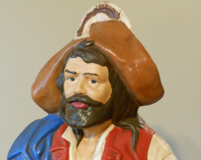 Vintage Holland Mold Ceramic Hand Painted Pirate Bust