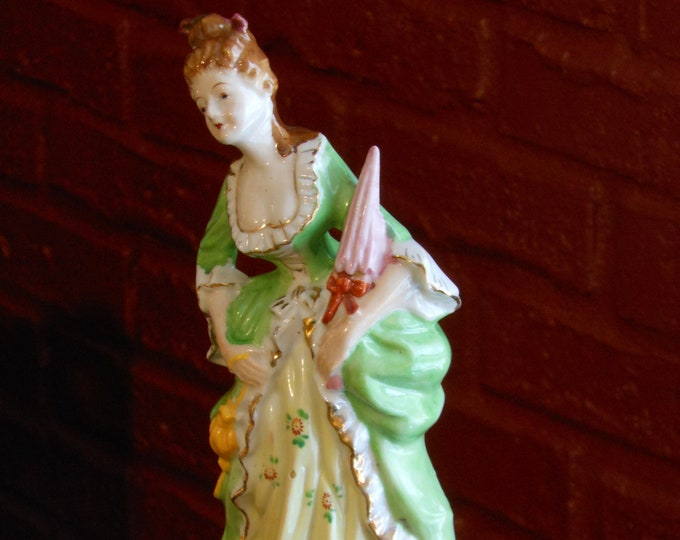 French Colonial Woman Vintage Figurine