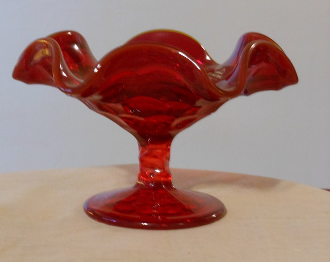 Viking Red Glass Candy Dish