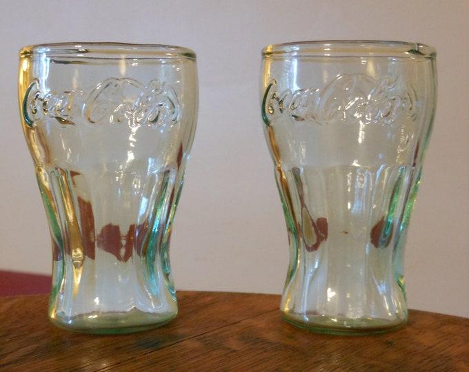 Two Small Coca-Cola Glasses