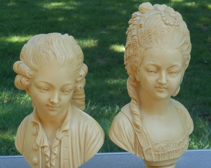 A.A. Importing Italian Vintage Male & Female Busts