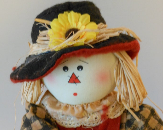Raggedy Old Scarecrow Figure