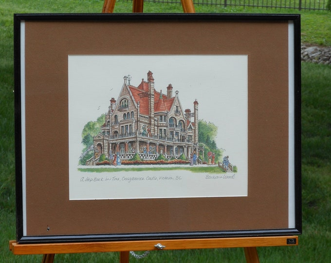 Barbara Wood Watercolor. A Step Back in Time, Craigdarroch Castle: Victoria, British Columbia