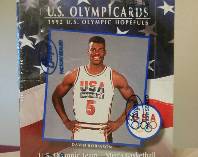 Factory-Sealed Box of 1992 U.S. Olympic Cards
