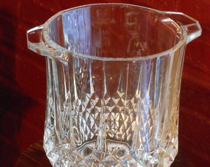 Heavy Lead Crystal Cut Glass Vase