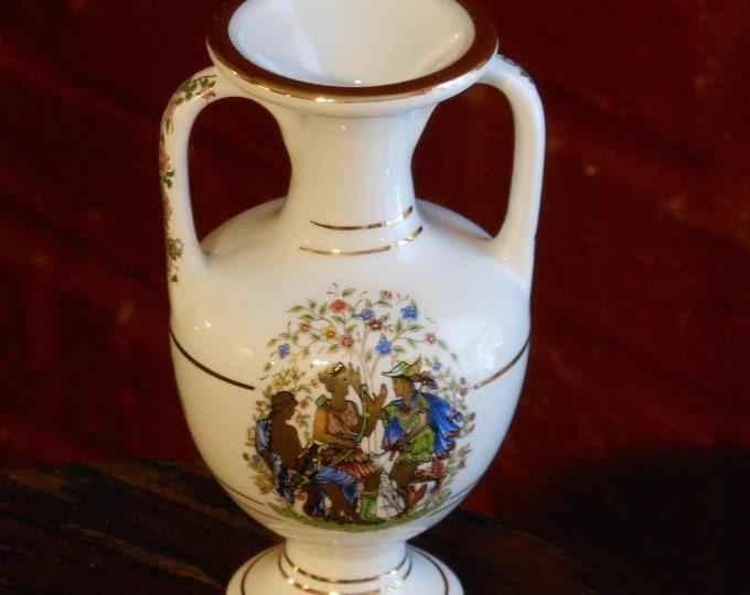 KE Greek Bud Vase Hand Made in 24K Gold