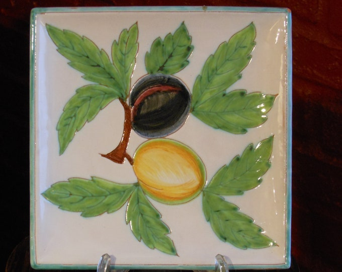 Italian Hand Painted Decorative Plate
