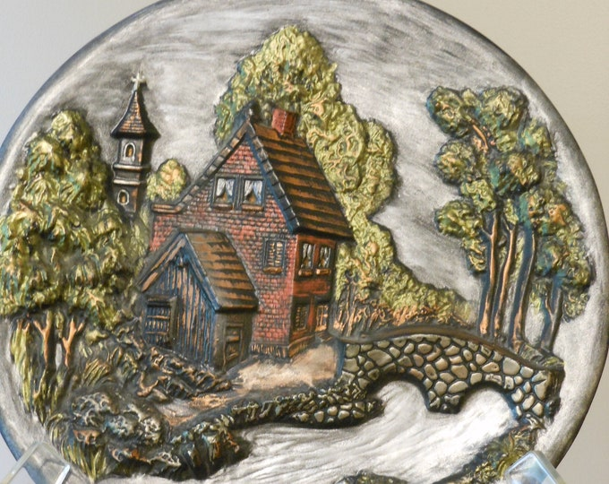 Vintage Hand Painted Plate Mold