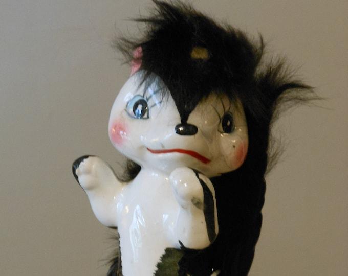 Vintage Ceramic Skunk Figurine