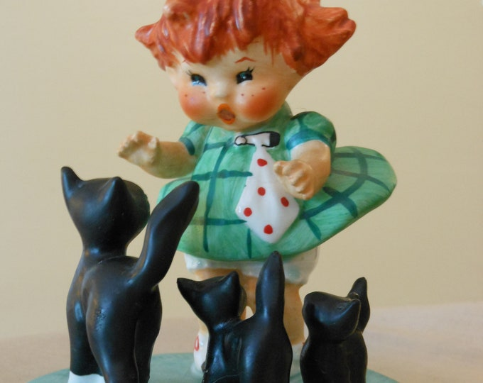 """Goebel """"Red Headed Girl"""" by Charlot Byj. Labeled, Signed, Numbered (1957)"""