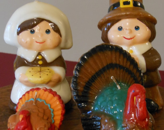 Thanksgiving Wax Figural Candles