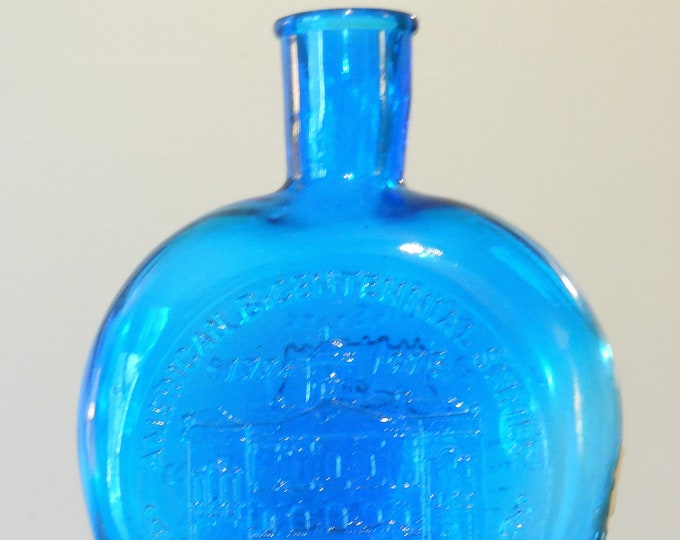 Clevenger Brothers Glass Works Blue South Carolina American Bicentennial Series Bottle