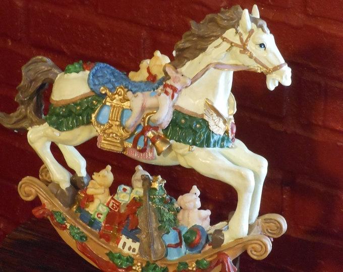 Cedar Creek Collection Christmas Rocking Horse