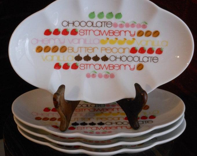 Four Vintage Toscany Dessert Plates