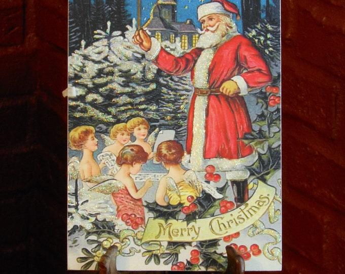 Santa Claus Wooden Christmas Plaque