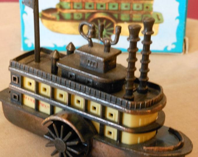 Die Cast Metal Two-Wheeler River Boat Pencil Sharpener