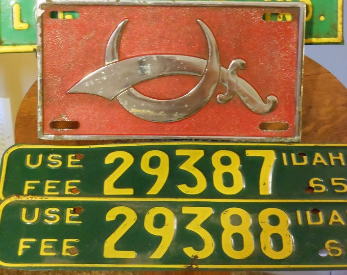 Four Shriner's Car Plates