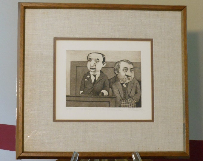"""Charles Bragg Signed & Numbered Print of """"Witness for the Prosecution"""""""