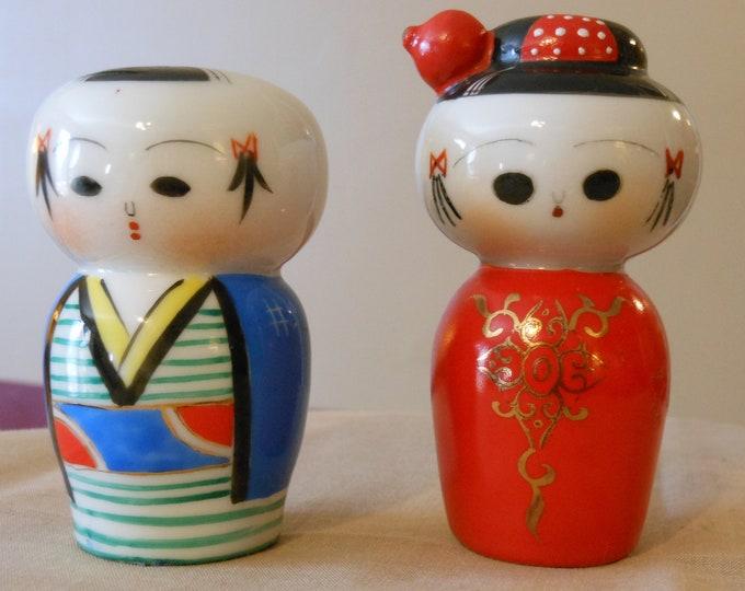 Vintage Geisha Salt & Pepper Shakers