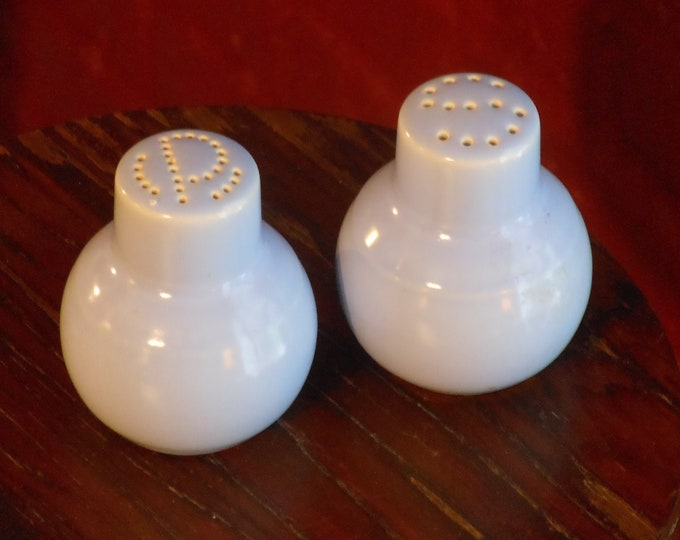 Vintage Vernon Kilns Light Blue Salt & Pepper Shakers