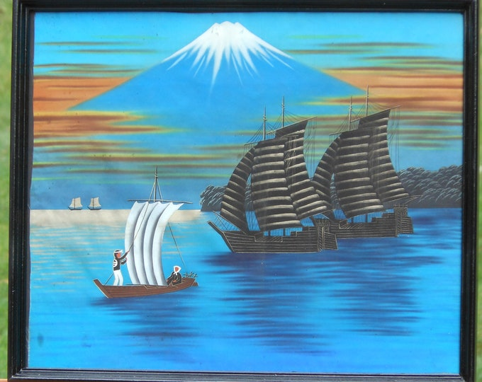 Framed Asian Silk Painting