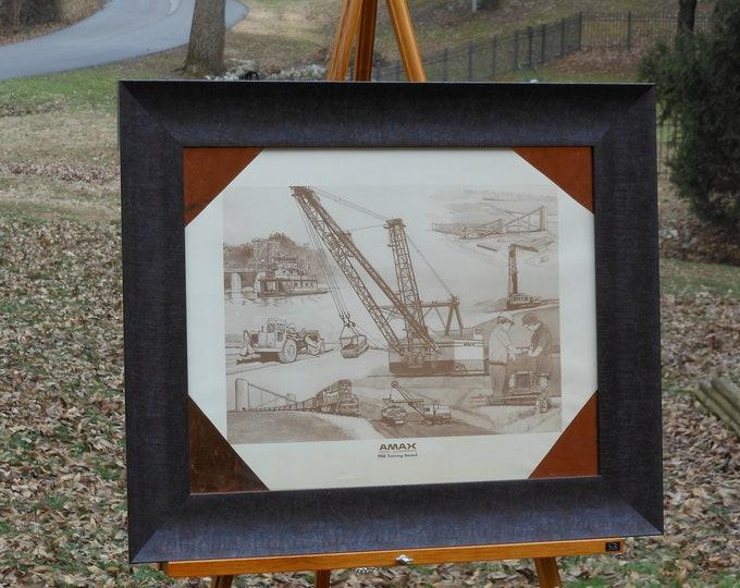 Framed AMAX Coal 1986 Training Award