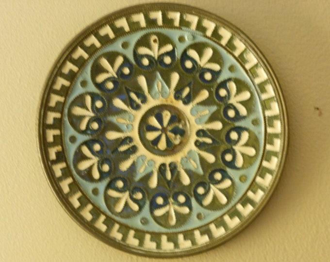Ceramic and Copper Intricate Pattern Disc
