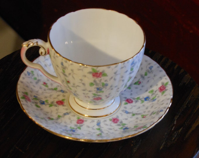 Vintage Royal Grafton Chantilly Tea Cup & Saucer