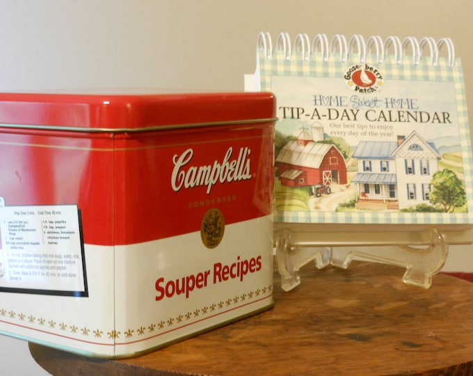 Campbell's Souper Recipes Metal Box & Gooseberry Patch Tip-a-Day Calendar